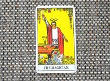 Le contrôle de magie de Tarot Card Power Intelect de magicien image libre de droits