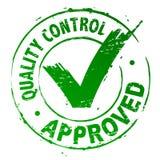 Le contrôle de qualité a reconnu Images stock