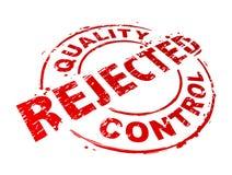 Le contrôle de qualité a rejeté illustration stock