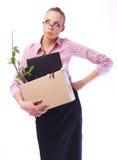 le contrat à terme écarté pense la femme Photo stock