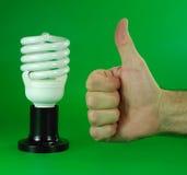 Le contrat à terme des lampes fluorescentes compactes Photographie stock