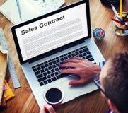 Le contrat de ventes forme le concept juridique de documents Photo libre de droits