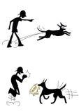 Le contrat et le chien Images libres de droits