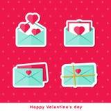 Le contre plat Jour de Valentine heureux Images libres de droits