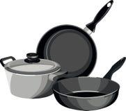 Le Cookware filtre la cocotte en terre Images libres de droits