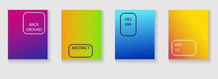 Le coperture minime progettano con la pendenza Priorità bassa astratta geometrica royalty illustrazione gratis