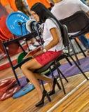 Le 2014 coppe del Mondo che powerlifting AWPC a Mosca Fotografia Stock Libera da Diritti