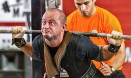 Le 2014 coppe del Mondo che powerlifting AWPC a Mosca Immagini Stock Libere da Diritti