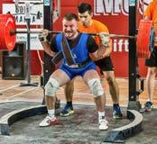 Le 2014 coppe del Mondo che powerlifting AWPC a Mosca Fotografie Stock Libere da Diritti