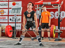 Le 2014 coppe del Mondo che powerlifting AWPC a Mosca Fotografie Stock