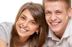 Le coppie chiudono il ritratto fotografia stock