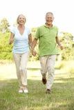 le coppie della campagna fanno maturare camminare Fotografia Stock Libera da Diritti