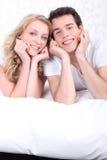 Le coppie hanno posto su una base Fotografie Stock Libere da Diritti