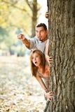 le coppie hanno spaventato Fotografie Stock