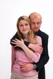 Le coppie - romance del posto di lavoro fotografia stock