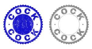 Le COQ grunge a donné à des timbres une consistance rugueuse illustration stock
