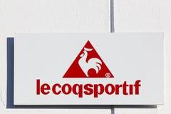 Le coq sportif logo on a wall Stock Photo