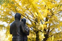 Le Coréen tient le premier rôle la sculpture à l'île de namiseom Photographie stock libre de droits