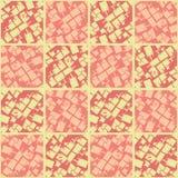 Le corail et la pêche rougissent les places texturisées dans la conception géométrique de tuile Mod?le sans couture de vecteur su illustration libre de droits