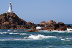 Le Corbiere Lighthouse, Jersey, UK Royalty Free Stock Image