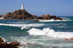 Le Corbiere Lighthouse, Jersey, UK Royalty Free Stock Photography