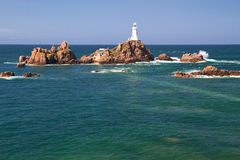 Le Corbiere Lighthouse, Jersey, UK Stock Image