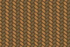 Le cordicelle di legno tessono la struttura Fotografia Stock