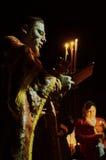 Le cortège de Pâques pendant la nuit de peut 1, 2016 dans l'église orthodoxe russe dans la région de Kaluga Photographie stock libre de droits