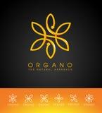Le cosmétique organique de beauté part du logo illustration de vecteur