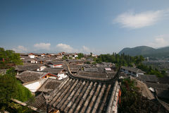 Le costruzioni in Città Vecchia di Lijiang Immagini Stock Libere da Diritti