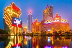 Le costruzioni del casinò a Macao, Cina Immagini Stock