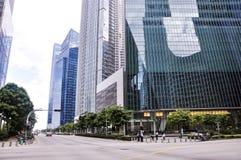 Le costruzioni di CBD a Singapore La zona centrale, inoltre ha chiamato l'area della città e senza formalità la città, è il centr immagine stock libera da diritti