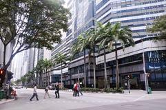 Le costruzioni di CBD a Singapore La zona centrale, inoltre ha chiamato l'area della città e senza formalità la città, è il centr immagine stock