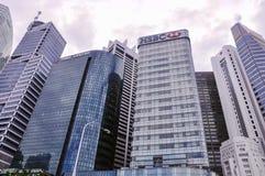 Le costruzioni di CBD a Singapore La zona centrale, inoltre ha chiamato l'area della città e senza formalità la città, è il centr fotografia stock libera da diritti