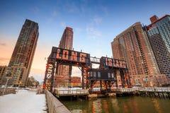Le costruzioni di Long Island Fotografia Stock
