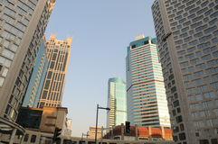Le costruzioni moderne di Schang-Hai Fotografia Stock Libera da Diritti