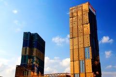 Le costruzioni moderne a Shenzhen Fotografie Stock Libere da Diritti