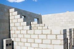 Le costruzioni si dirigono dai mattoni Immagini Stock