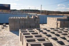 Le costruzioni si dirigono dai mattoni Immagine Stock