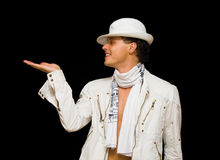 le costume beau son homme affiche les jeunes blancs Photos libres de droits