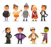 Le costume de Halloween badine le vecteur illustration libre de droits