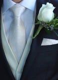 Le costume formel d'homme détaille le mariage Image libre de droits