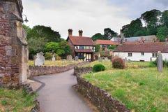 Le cottage de St George, Dunster, Somerset, Angleterre photo stock