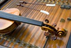 Le cou d'un violon Photographie stock
