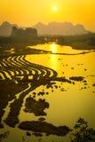 Le coucher de soleil Photos libres de droits