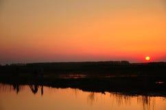 Le coucher de soleil Images libres de droits