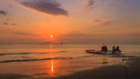 Le coucher de soleil Photo stock