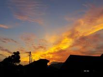 Le coucher de soleil Photographie stock libre de droits