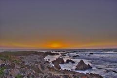 Coucher du soleil à 17 milles d'entraînement Images libres de droits