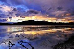 Le coucher du soleil Images stock